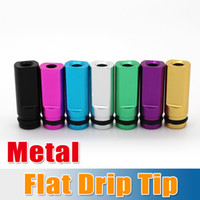 Flat Metal Drip Tip Head Metal Mouthpiece For EGO Atomizer M...
