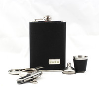 Leather personalized ashtray - Personalized Pieces Quality Stainless Steel oz Flask Gift Set Glass Funnel Ashtray Opener