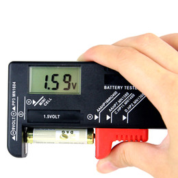 Wholesale Battery Tester Cheapest Top Quality Handheld v v Digital Battery Tester Clear LCD Display Black New Hot Sale D5106A