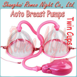 Wholesale Aoto Breast Pumps Enlargement With Twin Cups Electric Air Chest Pump Adult Sex Toys for Women Sex Products