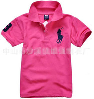 summer polo shirts - Summer Children Boys T shirt Polo Casual Tees Tops Cotton Solid T shirts colors For Choose C2109