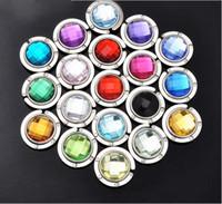 Wholesale Hot Selling Crystal Rhinestone Folding Bag Purse Handbag Hook Hanger Holder For Women K07614