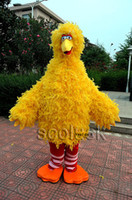 adult big bird costume - Excellent Quality Adult Size Yellow Big Bird Cartoon Mascot Costume for Kids