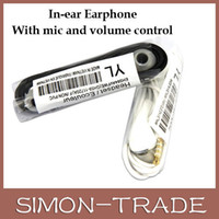 Wholesale 3 mm WHITE SAMSUNG EARPHONES HANDSFREE HEADPHONES GALAXY S3 I9300 ACE S2 I9100 NOTE GT
