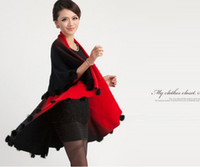 Wholesale Luxury Faded tone rabbit fur ball fringed wraps shawl Sarongs Hijabs scarf ponhos stole mixed colors SOFT