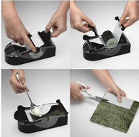 Sushi Tools Yes Black 2pcs Perfect Roll Sushi Maker Roller Machine DIY Easy Kitchen Magic Gadget