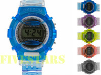 Wholesale New Children Digital Jelly Watches for Kids Boys Girls Christmas Gifts Sports Wristwatches Accessories In Box