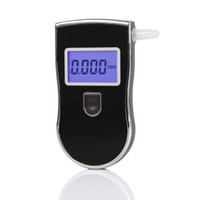 alcohol tester - Police Alcohol Breath Analyzer Tester Breathalyzer AT818 with digital LCD display blue backlight MouthpiFreeshipping Dropshipping