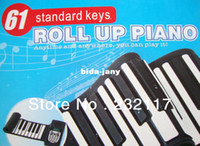 Wholesale Digital Electric Piano Key Soft KeyBoard Flexible Roll Up Piano with tones MIDI Port Good Quiality