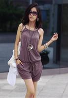100% Cotton Loose Sleeveless 2014 New Fashion women Pants womens Jump suit pants Casual womens Jump suit