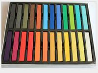 Wholesale 24Piece Colors short hair Fashion Hot Fast Non toxic Temporary Hair Chalk Dye Soft Pastel DIY mix color