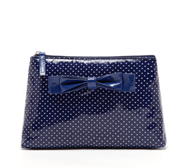 Wholesale Blue Bowknot Waterproof handbag clutch Makeupcase Beachbag bath swim travel B127