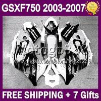 Wholesale 7gifts White CORONA No grey For SUZUKI KATANA GSXF750 MP138 GSX750F Black GSXF Fairing