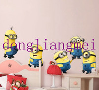 Wholesale 60pc New Design Despicable Me Minion Movie Decal Removable Wall Sticker Home Decor Art Kids Nursery Loving Gift J146