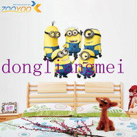Wholesale 120pc DESPICABLE ME wall stickers Vinyl Art decals room kid decor MINIONS Removable despicable me wall sticker for kids room J146