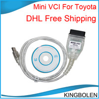 Car Diagnostic Cables and Connectors For Toyota Mini vci DHL Free Shipping Professional mini vci for Toyota diagnostic software&TIS Techstream V8.10.021 Cable High Quality