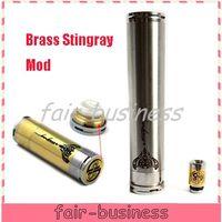Cheap 2014 Newest Brass Stingray Mechanical Vape Mod With Drip Tip BRASS Mod 1:1 Clone SS Stingray Mod for steam turbine taifun gt kayfun 3.1 Aqua