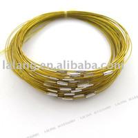 Wholesale 30pcs Fashion Yellow Copper Memory Wire Necklace Choker Cords