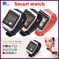 Wholesale FOR cellphone PW305 Bluetooth Smart Watch Wristwatches as the second screen of phone displaying incoming call ID talking and dialing call