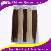Wholesale 18 inch Brazilian Virgin Hair Loop Micro Ring Hair Extension g pack B More Colors Silky Straight Human Hair