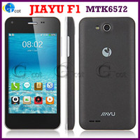 Wholesale Original JIAYU F1 MTK6572 Dual Core android cell phones Inch WVGA Screen MB RAM GB ROM MP Camera Android OS WCDMA G GPS phone