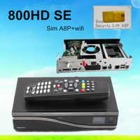 Wholesale DM800se with original A8P Sim card Wifi Satellite Receiver Bootloader BCM4505 Tuner D11 version Decoder DM800hd se wifi DHL