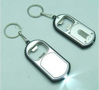 keychain with rings - RA in LED Flashlight Torch Keychain With Beer Bottle Opener Key Ring Chain K07618
