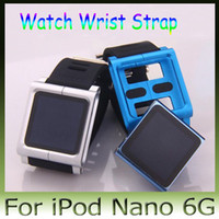 Wrist Strap iPod Nano 6g For iPod Nano Yes 20pcs New Hot!! Metal aluminum material LunaTik Lynk Watch Kits Band luna tik Wrist Strap Case For iPod Nano 6g FEDEX Free Shipping
