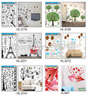 Wholesale Mixed Designs PVC Wall Stickers High quality Home decor Wall decals Sheets