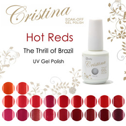 The Thrill of Brazil Hot Reds solid colors and metallic colors Cristina UV Gel Polish 15ml 0.5oz Nail Gel