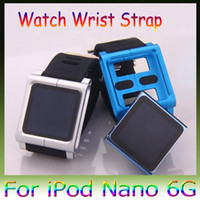 Wholesale 100pcs DHL New Aluminum Watch Kits Band Wrist Strap For ipod Nano G With High Qulality