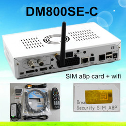 Wholesale dm800se DVB C with wifi SIM a8p card Cable tuner TV Receiver Sunray se DM800hd se Linux Cable Receiver dm800se Enigma2