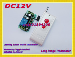 Control remoto 315 en venta-Sistema de conmutación de control remoto DC12V 1CH ReceiverTransmitter con mando a distancia ON ON Interruptor 315/433 Interruptor remoto RF de larga distancia 50-1000M