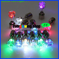 Wholesale mm colors pair Light Up Led Earring Light Crystal Earrings Studs for Dance Party Xmas New Year