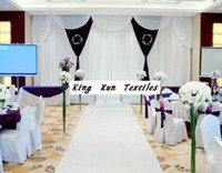 Wholesale 3M M White And Black Wedding Backdrop Curtain Stage Background