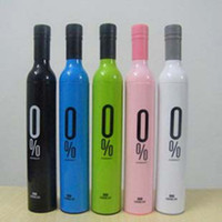 Wholesale Color mixed Bottle Umbrella Fashion Umbrella Wine Bottle Umbrella Folding Umbrella K076236