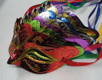 Wholesale fashion mask gold shining plated party mask wedding props masquerade mardi gras mask