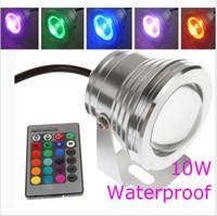 10W aquarium led controller - 10W warm cool white RGB LED Pool Light V Underwater Lamp Waterproof IP68 Aquarium Lamp Fountain Lights With Keys Remote Controller
