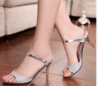 Stiletto Heel sandals for women 2014 - 2014 best price New princess high heeled shoes open toe sandals summer dress shoes for women high quality