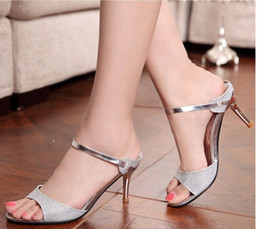 Wholesale 2014 best price New princess high heeled shoes open toe sandals summer dress shoes for women high quality