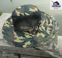 Wholesale Hats new Fashion Cap round birm with head net cover Lawn Bowls Camouflage Nylon Bush Hat MZ102