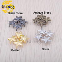 Wholesale 12mm Star Studs Punk Rock leathercraft DIY Rivet Spikes For Bag Shoes Accessories GZ019 Mix CP