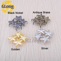 Wholesale Shoe Bags For Shipping - 12mm Star Studs Punk Rock leathercraft DIY Rivet Spikes Free Shipping For Bag Shoes Accessories 200pcs #GZ019-12(Mix) CP