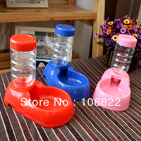 Dogs Feeding & Watering Supplies LX0126 dogs dog shop pet suppliesPet Dog Cat Automatic Dish Bowl Bottle Water Drinking Dispenser Feeder Fountain LX0126 Free shipping&D