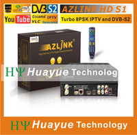 fta - 1pc Original AZLINK HD S1 FTA VLC media player and DVB S2 support wifi and PVR with Turbo LS500 PSK Turner LINUX IPTV Receiver