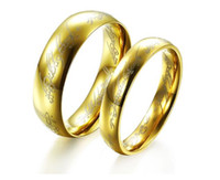 Wholesale Gold plated ring jewelry of Lord of the rings The one ring Titanium steel GJ320 couples ring