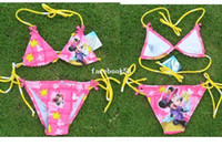 Boy Bikinis 3-6 Months Free Shipping Minnie Mouse Child swimwear girl child baby bikini lacing swimwear beach bathing bikini suit s two pieces