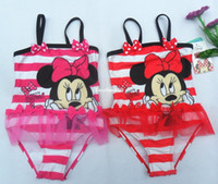 Boy Bikinis 3-6 Months Minnie mouse One Piece Children Swimwear Girl Swimwear Girl Swimsuit Springs Swimwear
