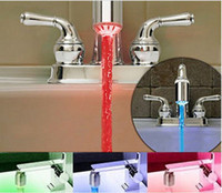 Wholesale Temperature Sensor Color Water Tap Faucet RGB Glow Shower Colorful LED Light sensitive faucet light
