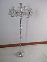 Metal Weddings Candelabra Tallest candelabra for weddings, 105cm height 7-arms candle holder, silver plate finish candle stick